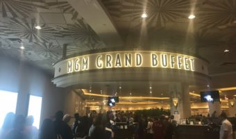 The sign at the MGM Grand Buffet.