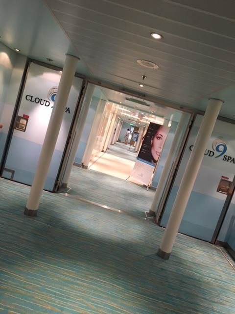 Cloud 9 Spa on the Carnival Cruise Ship