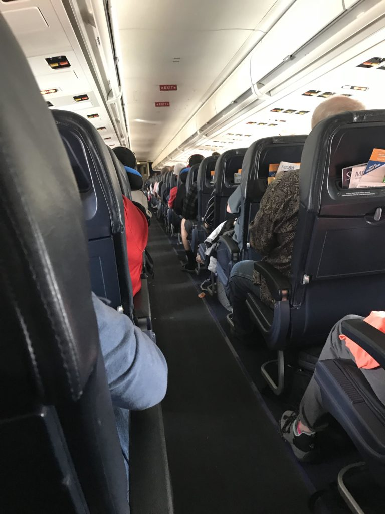 Inside an Allegiant Air flight
