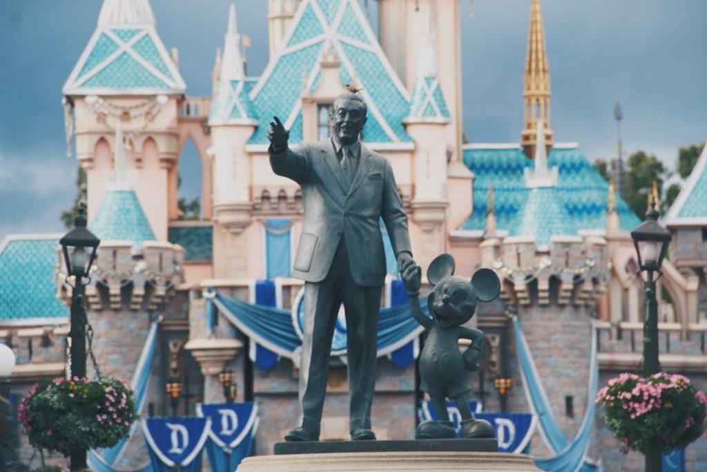 The statue at Disneyland.