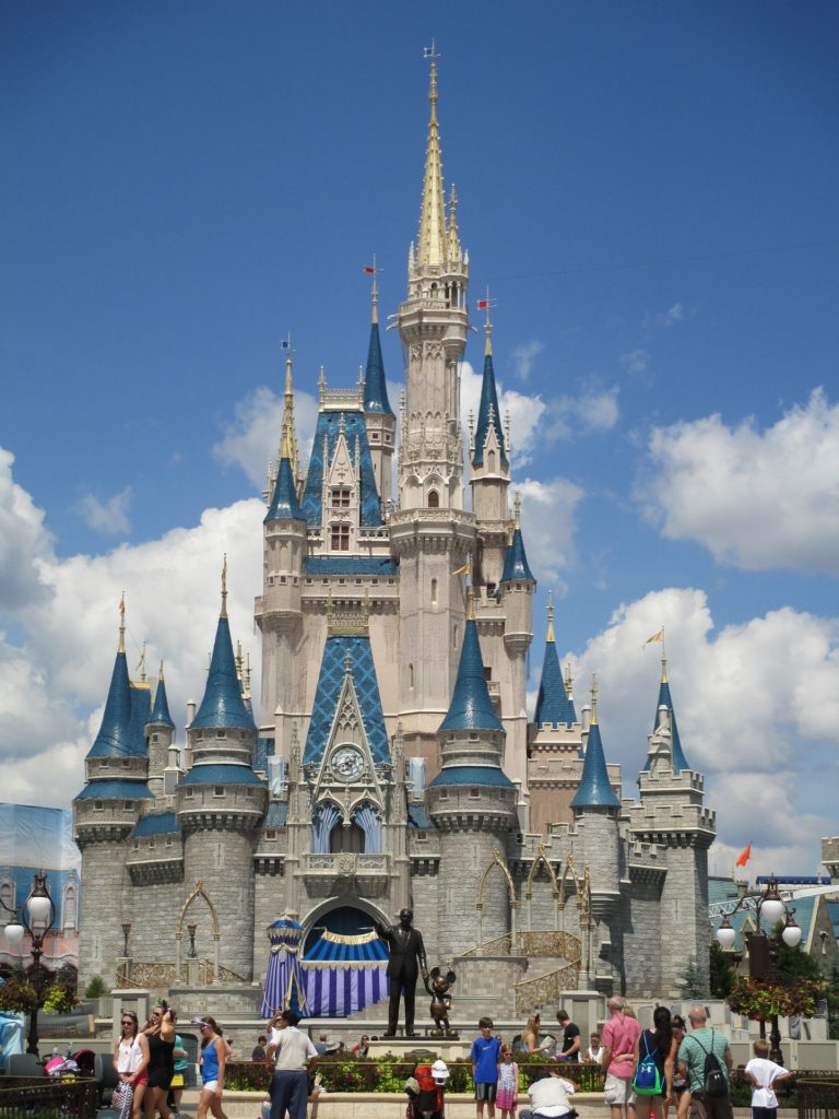 Close up view of Cinderella's Castle at Disney World