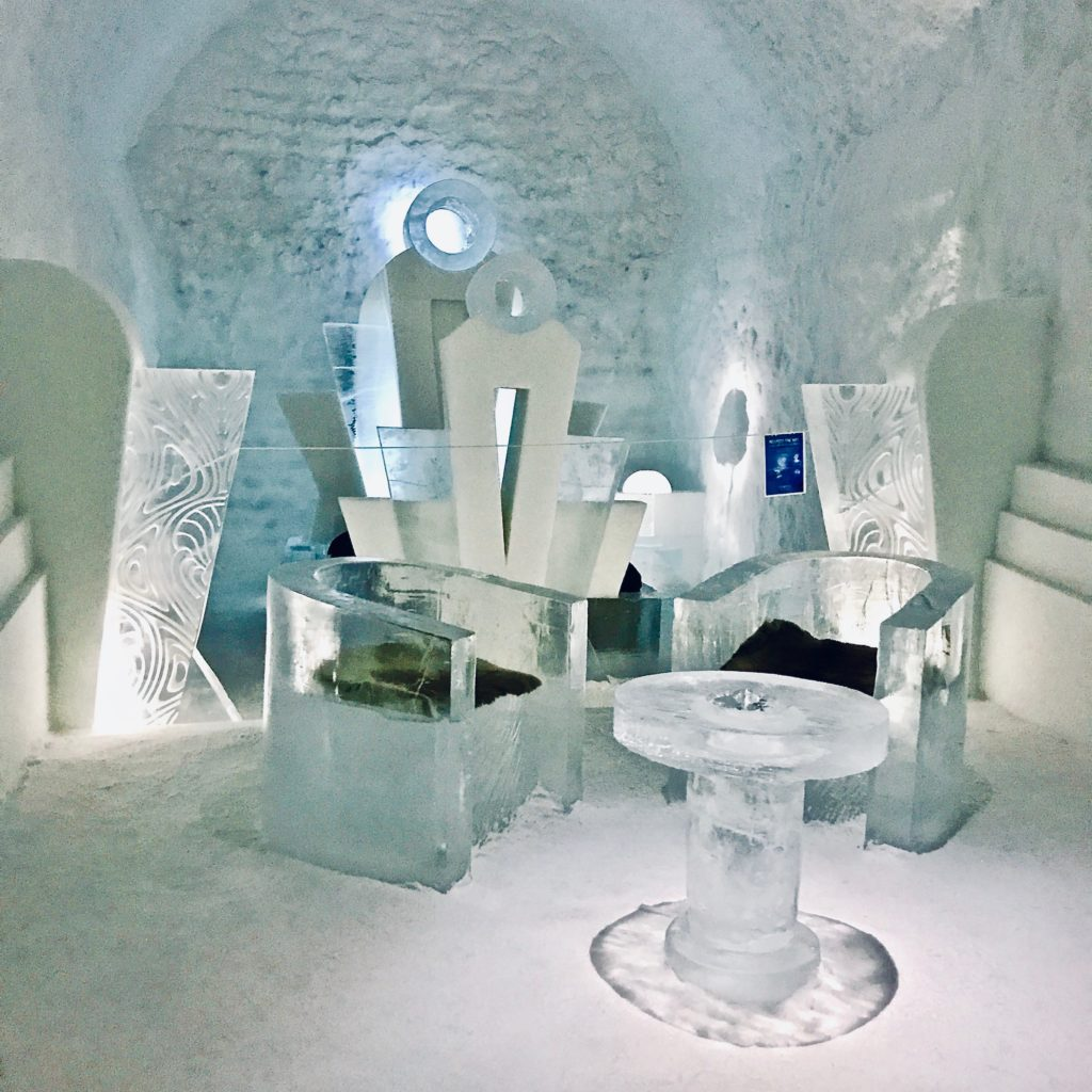 Ice Hotel 365 Suite, Once upon a Time, Designed by Luc Voisin & Mathieu Brison, Jukkasjärvi, Sweden, photo by Georgia Makitalo