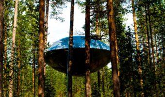 Treehotel Sweden, UFO room, photo by Georgia Makitalo
