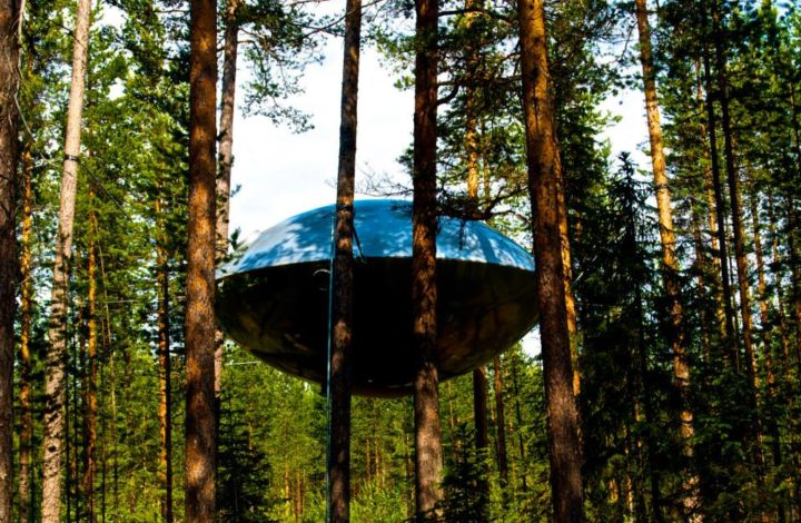 Treehotel Sweden, UFO room, photo by Georgia Makitalo